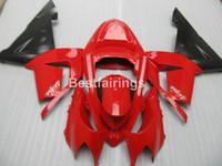 ingrosso abs di vendita di motocicli abs-Kit di carenatura per moto caldo per Kawasaki Ninja ZX10R Carrozzeria per carene nero rosso 2004 2005 set ZX10R 04 05 YT61