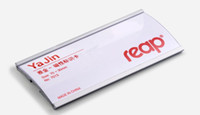 Wholesale Wholesale Magnetic Name Badges - 70*30mm Reap Magnetic aluminium store exhibition worker employee staff ID name Image card holder ID NAME badge
