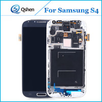 Barato Para S4-Lcd original para tela de tela Samsung S4 Touch Digitizer Lcd Assembly S4 i9500 i9505 Repair Parts