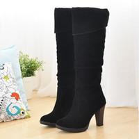 Wholesale Dropship Discount - Wholesale-fashion high heel boots women lady over knee platform dropship winter discount shoes size 34-41
