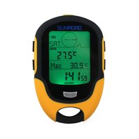 Wholesale Weather Barometers - Sunroad FR500 Multifunction LCD Digital Altimeter Barometer Compass Thermometer Hygrometer Weather Forecast LED Torch H13740
