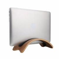 Wholesale Laptop Stand Desk Mount - Wholesale- Wood Dock Desk Holder Mount Base Stand Support Display Rack for Macbook Air Pro Laptop Universal Durable Tablet PC Stands