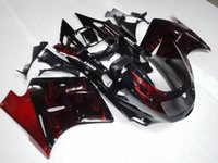 Wholesale Kawasaki 1992 - Aftermarket red flame ABS Fairing For Kawasaki ZX11R ZZR1100 1992-2001 ZX11R 92 93 94 95 96 97 98 99 00 01 Motorcycle Body Kit