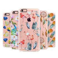 Wholesale Tattoo Case Set - For Iphone7 case Phone Shell Gift Painted For Iphone 6 Plus Mobile Sets Creative Mobile tattoo Lovely Ultra thin Nature plant animals skin