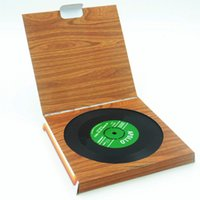 Wholesale Coasters Cup Mats Disc - Wholesale- 6 Pcs Lot Vintage Retro Silicone CD Tape Disc Design Drinks Coasters, Home Table Cup Mat Creative Decor Coffee Drink Placemat