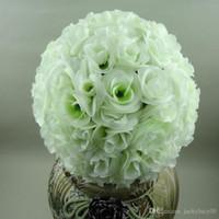 düğün merkezkaçları için ipek çiçek topları toptan satış-10