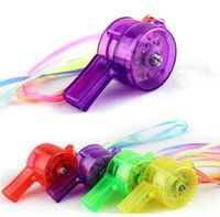 Wholesale party supplies for sale - Kids LED Toys New Luminous Whistle Light up Toys Flashing LED Whistles Kids Party Prom decoration supplies Classic Electronic Toy DHL Free