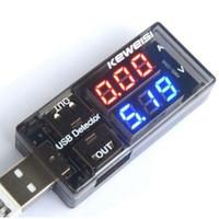 herramientas de batería de china al por mayor-20 UNIDS Cargador USB Negro Voltaje Actual Detector de Carga Batería Probador Volt Herramientas