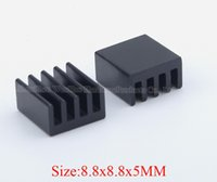 Wholesale Thermal Cpu Cooler - Free shipping 100 pcs heatsink 8.8*8.8*5 mm high quality electronic cooler electronic thermal block CPU cooling block