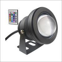 sualtı spotları toptan satış-Sualtı spot LED sualtı ışık 10 W LED çeşme ışık DC AC 12 V alüminyum konut ile IP68 1 IR uzaktan kumanda