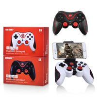 Gamepad S5 Bluetooth inalámbrico Gamepad Bluetooth 3.0 joystick controlador de juegos para Android Smartphone Tablet PC con soporte