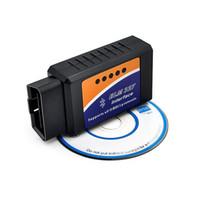 tarayıcı için obd2 kablosu toptan satış-Bluetooth ELM327 ELM 327 arabirimi Tarayıcı OBD2 teşhis kablosu Otomatik teşhis aleti Kod Okuyucu Hata Teşhis Cihazı Spektrum Analizi