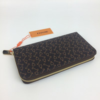Wholesale European Fashion Design Dresses - Zipper wallet Classic women design zippy wallets genuine leather Single wallet unisex clutch card holder vintage purse 60017 N60015 with box
