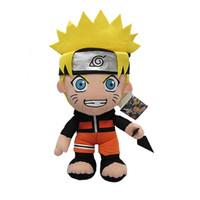naruto uzumaki kostüme großhandel-30 cm Anime Naruto Uzumaki Naruto Plüsch Puppe Spielzeug Uzumaki Naruto Cosplay Kostüm Plüsch Weiche Stofftiere Geschenk für Kinder Kinder