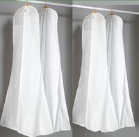 ingrosso abbigliamento di qualità-Grandi borse per abiti da sposa da 180 cm Borsa per la polvere bianca di alta qualità Coperchio per indumenti lunghi Coperchi antipolvere per viaggio Vendita calda