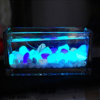 Novo 10PCS Luminoso Light-emitting Arbustos Artificiais Pedra Fish Tank Aquarium Stone Decoration frete grátis