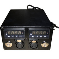 110v-280v doble medidor digital Heat Press temperatura Box Dual PID Controller Relé SSR Jack para Rosin Press