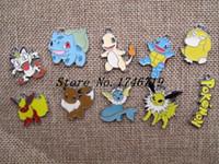 Wholesale Necklace Sets Pcs - New 10 Pcs Set Cartoon Poke go Pocket Monster DIY Rhinestone Metal necklace Pendants T--27