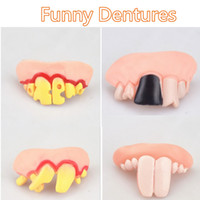 Wholesale Denture Funny - Halloween Funny Fake Vampire Denture Teeth Festivals Decoration Props Trick Toy Different Models Wholesale Price DHL free