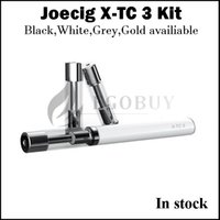 Wholesale Led Wax Atomizer - Original JOECIG slim style X-TC-3 with Protable Power LED Display Case Inside Battery Charge Status WAX Oil waxy Atomizer x-tc 3 Kit