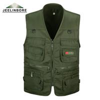 сетка фотографии жилет оптовых-Wholesale- New Arrival Multi-pockets Vest Men Professional Photography Cameraman Mesh Vest for Director Reporter men's Vests Plus Size 3XL