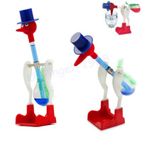 Wholesale Novelty Dippy Drinking Bird - 5pcs lot Novelty Retro Glass Beautiful Design Happy Drinking Dipping Dippy Bird toys Duck Bobbing Kids Festive+Free Shipping