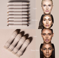 Wholesale Wholesale Full Makeup Brushes Set - Newest Kylie KKW BEAUTY Highlighters sticks contours Stick contours brush Cream Contour Kim Kardashian 2 in 1 Makeup Set