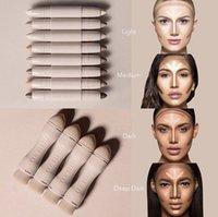 Wholesale Beauty Brushes - Newest Kylie KKW BEAUTY Highlighters sticks contours Stick contours brush Cream Contour Kim Kardashian 2 in 1 Makeup Set