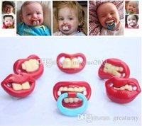 Wholesale Safe Products - Wholesale 500pcs Safe Quality Baby Funny Pacifier Mustache Pacifier Infant Soother Gentleman bpa Baby Feeding Products DHL FEDEX Free