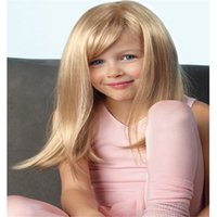Wholesale blonde human hair lace wigs bangs resale online - Full Lace Wigs Baby wig Full Lace Human Hair Wig Senior silk Long Wavy Brazilian Virgin Hair With Bangs For women Color L14 kabell wig