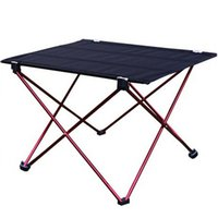 Wholesale 1pc Outdoor Folding Table Ultra light Aluminum Alloy Structure Portable Camping Table Furniture Foldable Picnic Table
