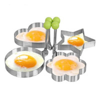 Wholesale Funny Egg Mould - Wholesale Funny Stainless Steel Fried Egg Shaper Pancake Mould Mold Kitchen Cooking Tools Free Shipping