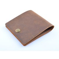 Wholesale Hand Made Leather Purses - Custom Logo Genuine Leather Wallet Case New 2017 Hand Made Simple Style Mens Wallet Super Thin Card Purse Mini Wallet