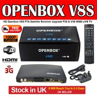 Wholesale Digital Tv Satellite Receiver Box - High quality Openbox V8s Digital Satellite Receiver S V8 S-v8 TV Set Top Box Support Webtv Biss Key 3g Youporn Cccamd Newcamd stock in UK