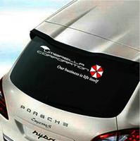 Wholesale Car Rear Windscreen Mirror - 40cm Car styling Resident Evil umbrella car sticker auto rear windscreen decal emblem