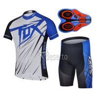 Wholesale Men Cycling Jersey Fox - 2017 Summer New Arrival Cycling clothing FOX team cycling jersey (bib)shorts sets Ropa Ciclismo Man Quick-Dry 9D GEL Pad Bike Clothing A124