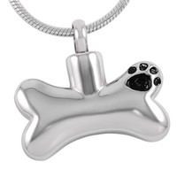 Wholesale Dog Shape Charms - IJD8085 Dog Bone Shape Cremation Urn Necklace Women Charm,Wholesale Stainless Steel Memorial Ash Keepsake Jewelry Pendant Female Accessories