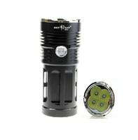 небо фонарика оптовых-8000LM 4xT6 4xCree XM-L T6 3-Режим светодиодный фонарик Факел лампа Sky RAY KING 4T6 светодиодный фонарик