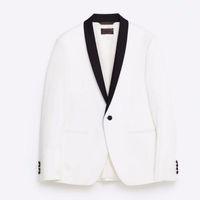 Wholesale Shawl Collar Dress Suit Men - Shawl collar men's suit jacket handsome a grain of buckle leisure suit jacket the groom's best man wedding guests dresses jacket