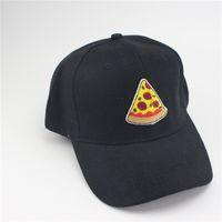 Wholesale Girls Fashion Baseball Hat - Hamburgers Snapback Caps Pizza pineapple Hats Adjustable Baseball Caps Snapback Hats Embroidery Woman Hip Hop for Girls