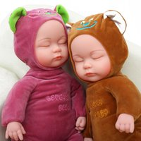 Wholesale Glue Doll - XS Simulation Doll Baby Plush Doll Sleep Soft Glue To Placate Accompany Baby for Children Gifts