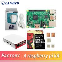 Wholesale Power Supply 16 - A Raspberry Pi 3 Model B starter kit-pi 3 board   pi 3 case  American standard power supply 16 G memory card  heat sink