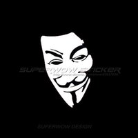 Wholesale Classic Car Windshield - Car stickers V for Vendetta reflective waterproof stickers personalized decals classic characters Reflective film carved car stickers