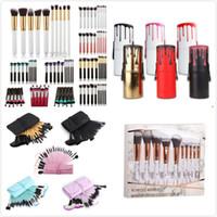 Wholesale Labels Cosmetics - 8 styles Hottest Cosmetic Makeup Brushes Set Powder Eyeshadow Foundation Make Up Brush Set Private Label
