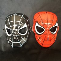 Marvel Superhero Costume Spiderman Mask For Party Mardi Gras Costume Prop Christmas Holloween Ball Taille unique pour la plupart