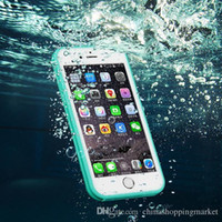 Wholesale Shock Water Proof Case - For iPhone X 8 7 6 6S Plus Waterproof Case TPU Full Boday Cover Shock-proof Dust-proof Underwater Diving Cases For Samsung S7 S6 edge Plus