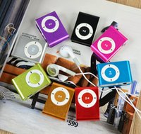 Wholesale Mp3 Built Memory - Portable Metal Clip MP3 Player with 8 Candy Colors No Memory Card Music Player