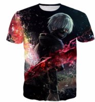 Wholesale tokyo ghoul shirts - New Fashion Unisex Anime Tokyo Ghoul 3D Print T-shirt Summer Style Harajuku Art Kaneki Womans Mens Tops Short Sleeve Casual T-shirts KK5