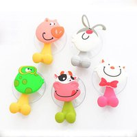 Wholesale Hot Household Items - Hot sale Cute Cartoon suction cup toothbrush holder hooks bathroom set accessories Eco-Friendly household items