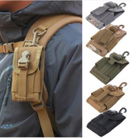 Wholesale Mobile Phone For Army - 4.5 inch Oxford Universal Army Tactical Bag for Mobile Phone Hook Cover Pouch Case Hard Wearing Heavy Duty free shipping